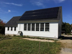 Lincolnville Maine Community Library Solar Panels