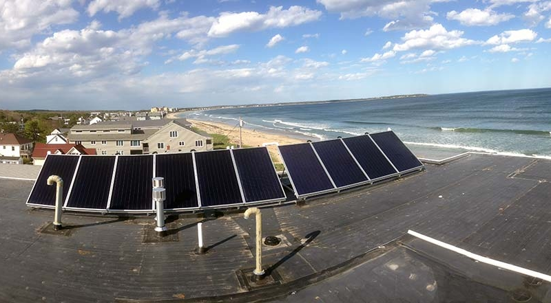 Alouette Beach Resort Solar - Old Orchard Beach, ME Solar Hot Water