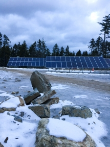 Solar panels installed at Bigelow Labs in East Boothbay, Maine