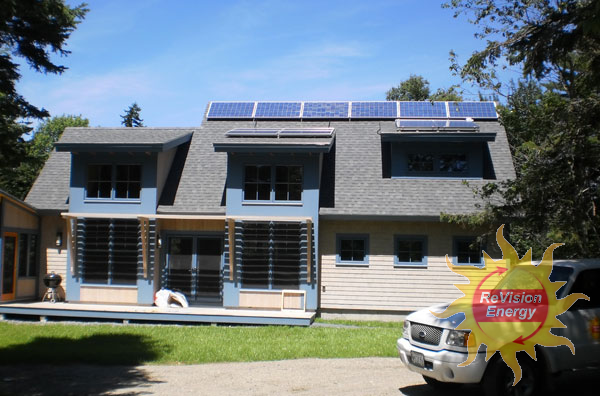 Somesville, ME Solar Electricity and Hot Water