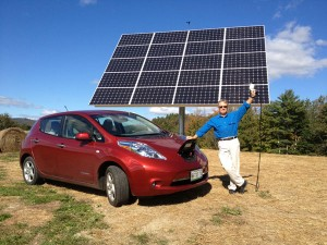 Norway, Maine - Nissan LEAF Powered by Solar Tracker