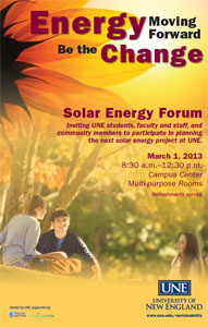 Solar Energy Forum at UNE 2013
