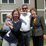 Dan Clapp and his family with Senator Shaheen