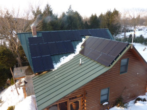 Greene ME Solar power suniva array