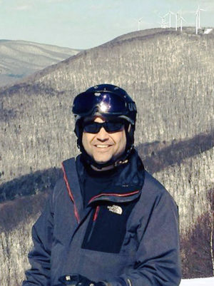 Jack Ruderman skiing at Jiminy Peak in Massachusetts