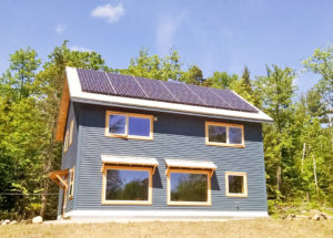 Solar array on new construction home in Jackson New Hampshire