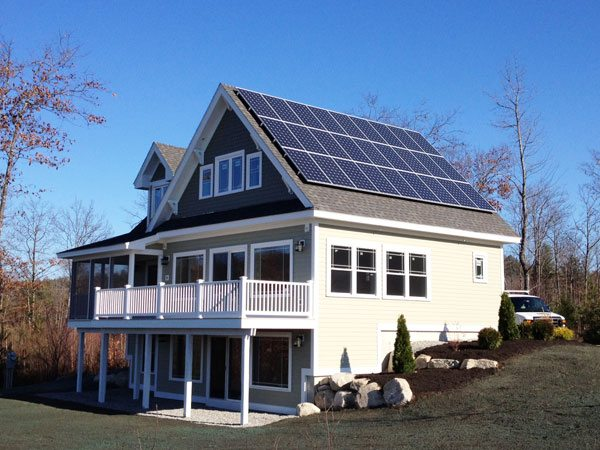 New construction making new house solar ready for Building a house in maine
