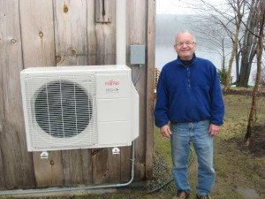 Customer in Maine with solar powered heat pump