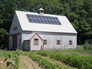 maine - solar energy - barn
