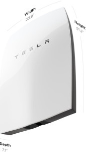 Tesla PowerWall battery specs