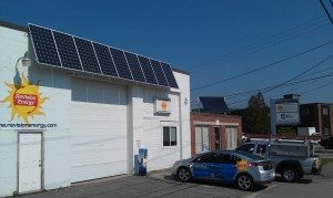 Solar Electric Installation at Solar Company Headquarters in Portland, Maine