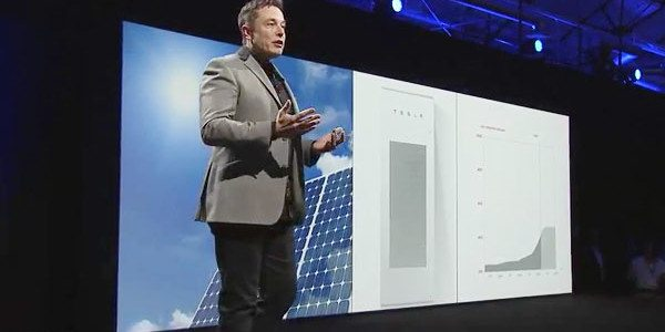 Elon Musk announcing the PowerWall
