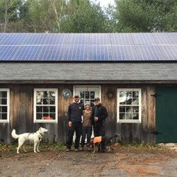 Solar installers at a home in Maine