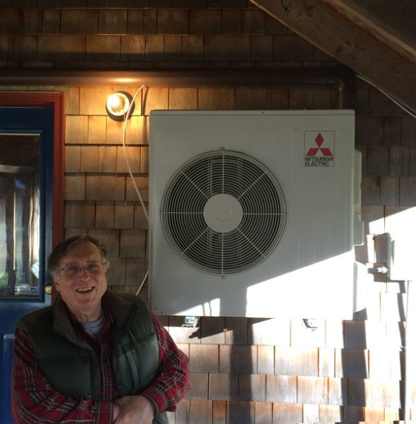 Solar + Heat Pump customer Jay Norwalk in Alna, Maine