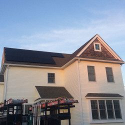 Solar photovoltaic panels installed by ReVision Energy for a homeowner in Newburyport, Massachusetts