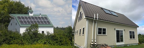Homes of solar family in Maine