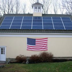 house-with-solar-and-flag