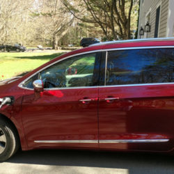 The new Chrysler Pacifica plug-in hybrid mini-van has an all-electric range of 35 miles.