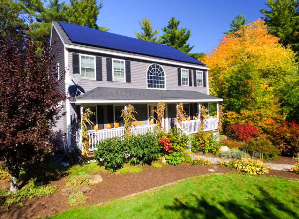 The Noltes of Pelham, NH have leveraged their 8.9 kW solar electric array to power all household loads, an electric car, and roughly 1/2 of their home's heating.