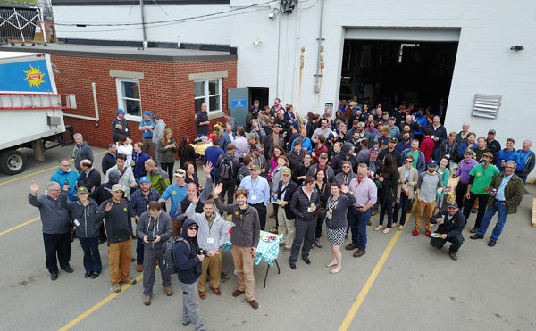 ReVision Energy hosted over 100 solar professionals from the Amicus solar cooperative at our offices in Portland, Maine. Thanks to Aegis Solar for the sweet drone photo!