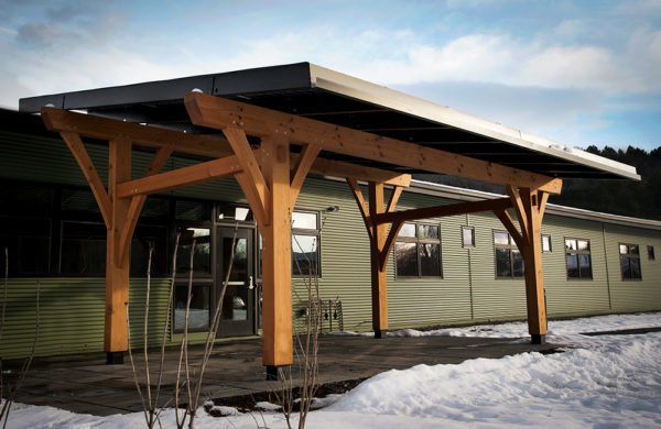 Suncommon timber-framed solar structure