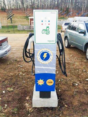 electric vehicle charger at eastman's corner kensington