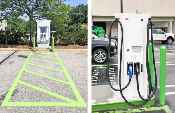 Workplace charging and public chargers at hannaford locations in New England