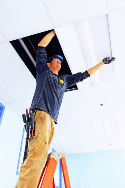 Brian Valle installs LED lighting