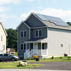 solar pv rooftop array on house