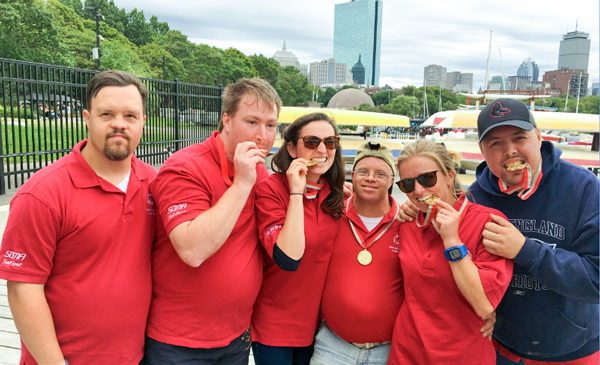 special olympian sailors in boston harbor