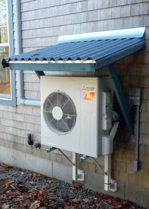 heat pump with custom roof