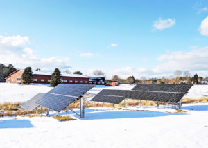 Ground mounted solar array for Cumberland Animal Clinic, Cumberland, Maine