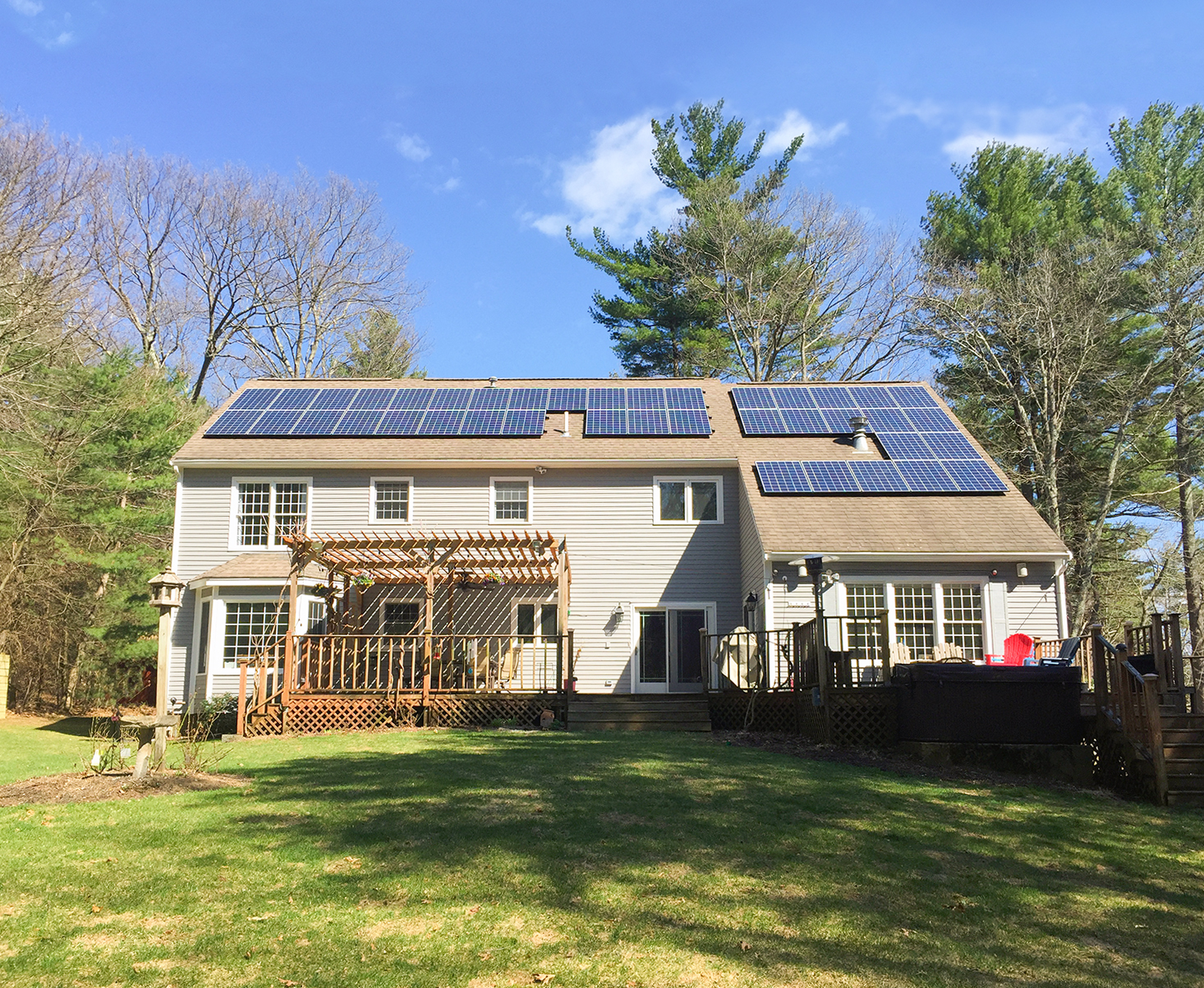 Solar Electric Panels For Homes In Me Nh Ma Revision Energy Electricityhow To Map House Electrical Wiring Two Boys Play Outside Enjoying The Sun As Their Produces Electricity With Installed By