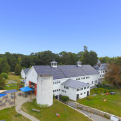 Aerial photo of solar for Throwback Brewery - North Hampton, NH