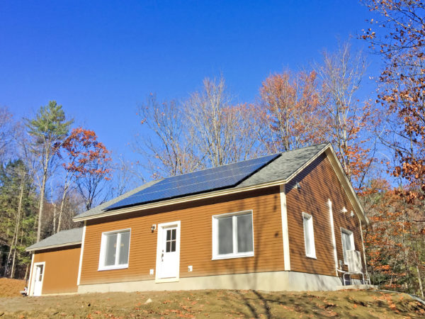 custom timber frame home with solar