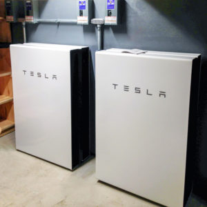 Tesla Powerwall installed for customer's home in Maine