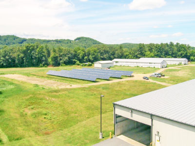 Ground mount solar array at Chamberlain Machine in Walpole, NH