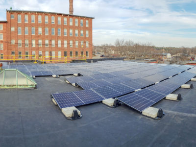 Solar array at the Children's Museum and Dover Pool in Dover, NH