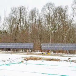 Ground mount solar array at Groton School in Groton, MA