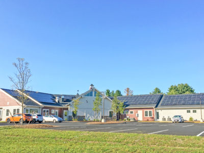 Solar array for Monarch School of New England in Rochester, NH