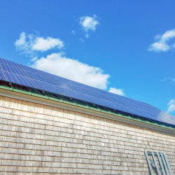 Rooftop solar array by ReVision Energy at Tarbox Farm in Westport Island, ME