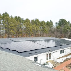 Solar array on the Town of Nottingham, NH Community Center