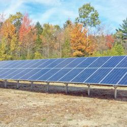 Ground mount solar array at Village District of Eastman Water Treatment Center in Springfield, NH