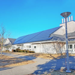 Rooftop solar array by ReVision Energy at Woods Hole Oceanographic Institution Fye Lab