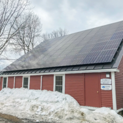 Rooftop solar array for the Stoddard Law Firm in Brunswick, ME