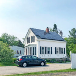 Rooftop solar array on the McNamara home in Alfred, ME