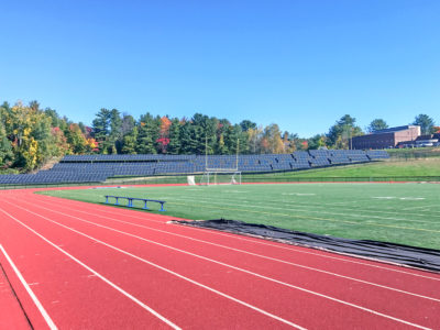 Ground-mount solar array at Inter-Lakes High School in Meredith, NH