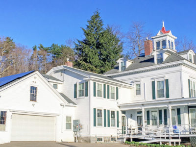 Rooftop solar array at Sutton House B&B in Center Harbor, NH