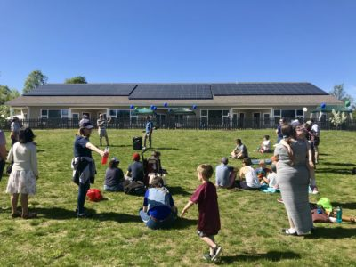 Rooftop solar array at Hollis Montessori School in NH