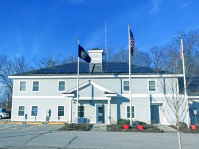 Rooftop solar array at the Town of Stratham, NH Police Station